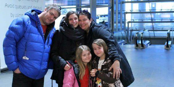 Fam Castberg på Kløfta tok avskjed med italienske Rebecca
